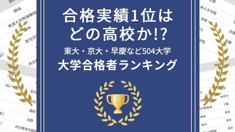 2019年 大学合格者 高校別ランキング
