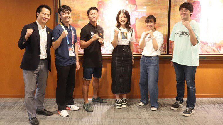 神田外語大学でラグビーW杯にボランティアとして参加予定の学生の壮行会が開催