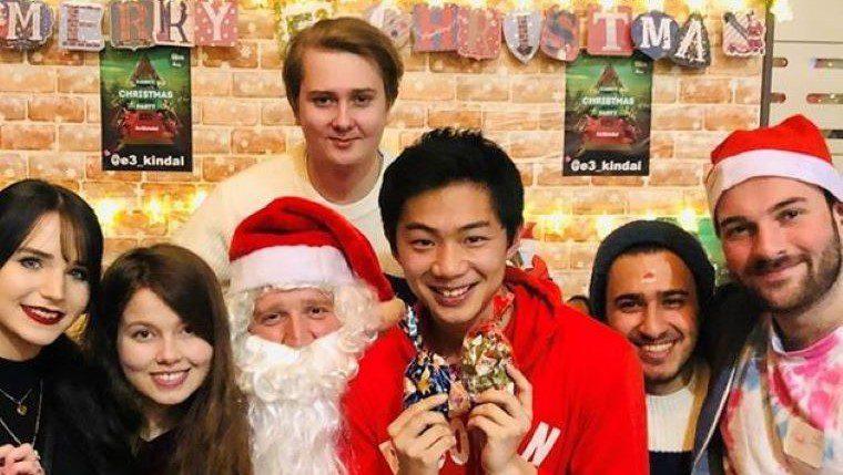 近畿大学英語村E3[e-cube] が12月17日にChristmas Charity Dinnerを開催 ~欧米の伝統的なクリスマスをチャリティを通して体験