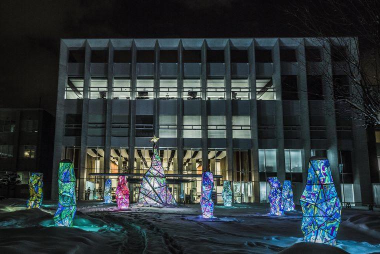 北海道科学大学が12月2~25日までキャンパス・イルミネーションを実施